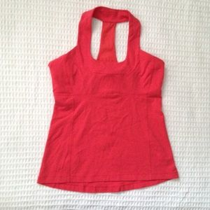 Lululemon scoop neck tank in coral size 12